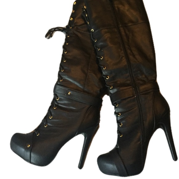 f732d6defa6b JustFab Shoes - Justfab lace up stiletto boots